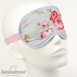 Rosen, hellblau/rosa – Schlafbrille
