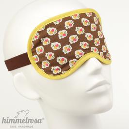 Beerenmuster, braun/gelb – Schlafbrille