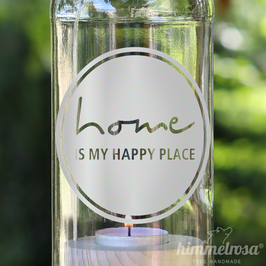 home is my happy place - Windlicht