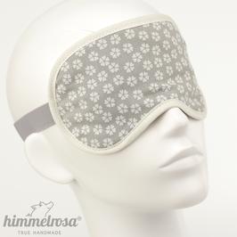 Blüten-Muster, hellgrau/weiß – Schlafbrille