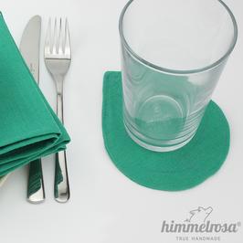 grün – Untersetzer aus 100% Leinen