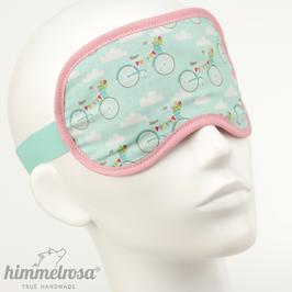 Fahrräder & Wolken, mint/rosa – Schlafbrille