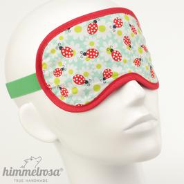 Marienkäfer & Blüten, mint/rot – Schlafbrille
