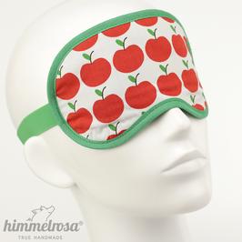 Retro Apfelmuster, weiß/rot/grün – Schlafbrille