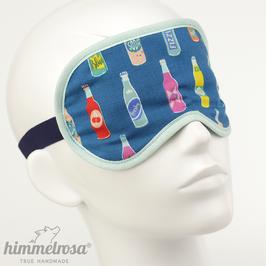 Flaschen, blau/mint– Schlafbrille