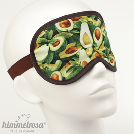 Avocado-Muster, grün/braun – Schlafbrille