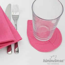 pink – Untersetzer aus 100% Leinen