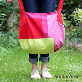 geometrisch rot, rosa, grün, weiß – Sommertasche