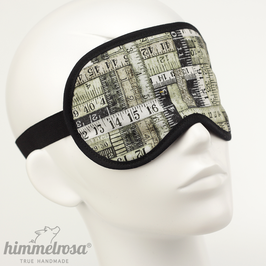 Maßband, grünlich/schwarz – Schlafbrille