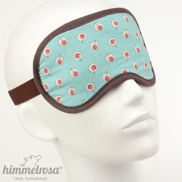 kleine Kirschen, türkis/rot/braun – Schlafbrille