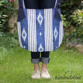Ikat-Muster blau/weiß – Sommertasche