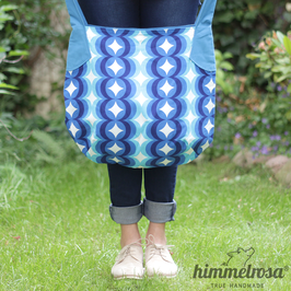 70er-Jahre-Muster in blau – Sommertasche
