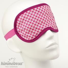 Herzmuster, pink/weiß – Schlafbrille