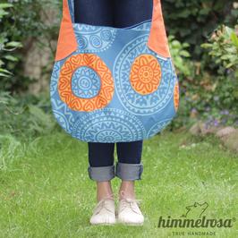 Mandalas blau/orange – Sommertasche