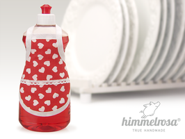 vintage Herzchenstoff mit Klöppelborte – Spülischürze