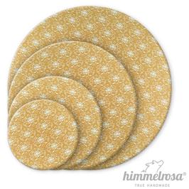 florales Muster auf mattem olivgrün – Abdeckhaube