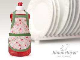 kleine Erbeeren und Blüten auf rosa.grün – Spülischürze