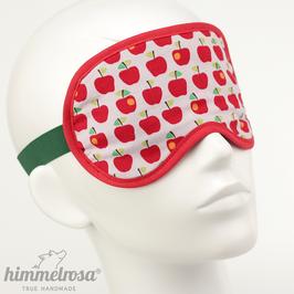 Kleines Apfelmuster, weiß/grün/rot – Schlafbrille