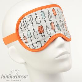 """""""Eis am Stiel"""", schwarz/weiß/orange – Schlafbrille"""