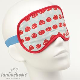 Pilz-Muster, hellblau/rot – Schlafbrille