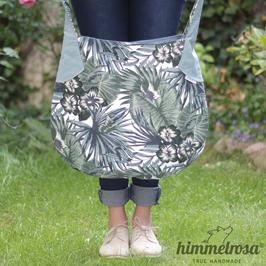 Palmenwedel in Grüntönen – Sommertasche