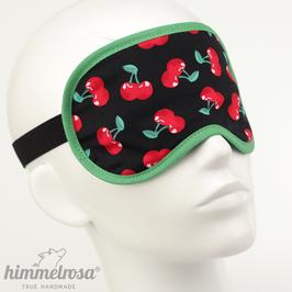 Kirschen, schwarz/rot/grün – Schlafbrille