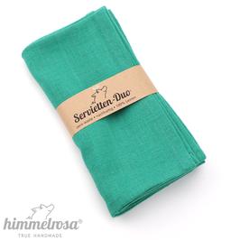 grün – 2 Servietten aus 100% Leinen