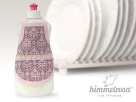 schwedisch anmutendes Muster in altrosa auf Lavendel.rosa – Spülischürze