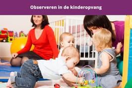 observeren in de kinderopvang