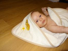 Kinderbadetuch mit Kapuze