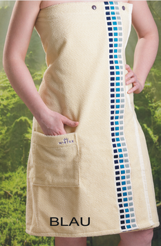 Sauna-Kilt Würfel Damen 75x145cm