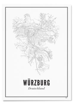 WIJCK Würzburg Stadt Print