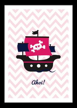 Print - Piraten-schiff Rosa
