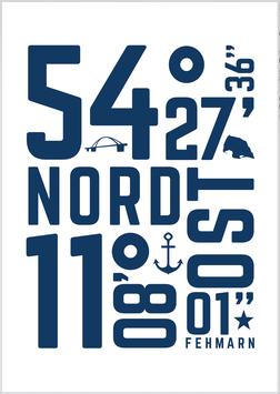 Print - Fehmarn Koordinaten