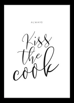 Print - Kiss the cook