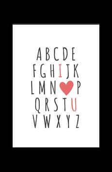 Print - ABC - I love U