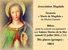 Billets x 10 tarif de groupe Concert du 23 juillet 2016 aux Saintes Marie de la Mer