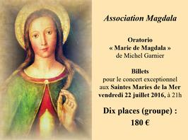 Billets x 10 tarif de groupe Concert du 22 juillet 2016 aux Saintes Maries de la Mer