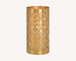 "Windlicht ""Ornamente"" in Gold"