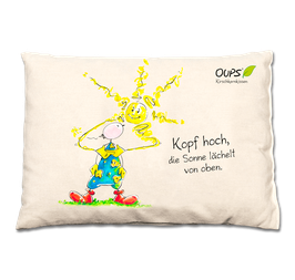 "Oups-Kirschkernkissen ""Kopf hoch"""
