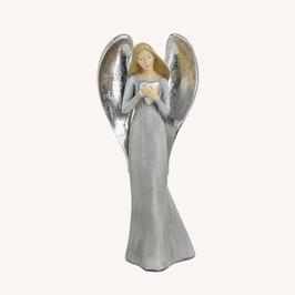 Engel mit Herz und Silberflügeln