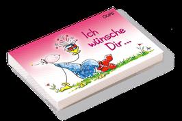 """Oups-Kärtchenbox """"Ich wünsche Dir"""""""