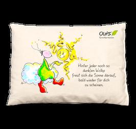 """Oups-Kirschkernkissen """"Hinter jeder Wolke"""""""