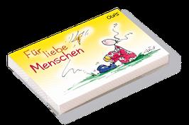"""Oups-Kärtchenbox """"Für liebe Menschen"""""""