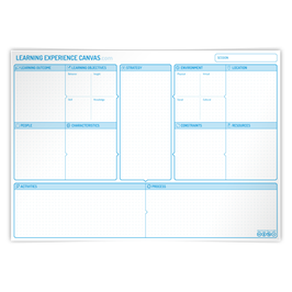 10 x Learning Experience Canvas A2 format