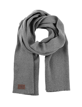 Rib Scarf 100% Virgin Lambswool Light Grey | Klitmøller | 65.-