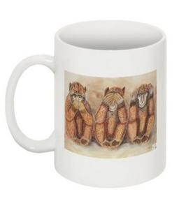 Tasse: DIe drei Affen