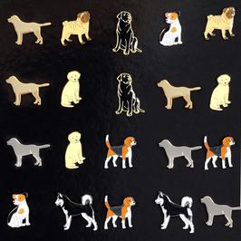 Artikel-Nr. 044A - Ansteckpins, Motiv Hunde
