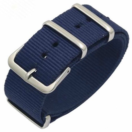 18mm NATO strap for VOSTOK watches, nylon, blue