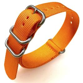 18mm ZULU strap for VOSTOK watches, nylon, orange, ZULU04-18mm
